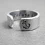 Hammered Secret Message Anchor Ring  I REFUSE TO by emerydrive
