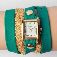 La Mer Rio Multichain Wrap Watch - Teal - Punk.com