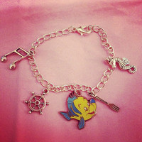 Little Mermaid Charm Bracelet by RabbitJewellery on Etsy