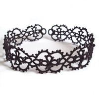 Tatted Gothic Choker Cassandra by TataniaRosa on Etsy