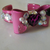 Lolita Bow Cuff Bling Bracelet by iHeartZena on Etsy