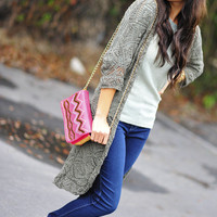 Stand Your Ground Cardigan: Pale Green | Hope's