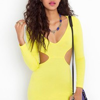 Neon Cutout Dress in What's New at Nasty Gal