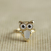 opulent owl ring at ShopRuche.com