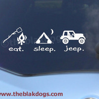 Eat. Sleep. Jeep. Vinyl Car Decal Sticker