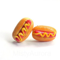 Free Shipping Hot Dog Buns with Sausage and Mustard by MistyAurora