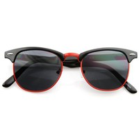 Classic Retro Fashion Colorful Half Frame Wayfarer Style Sunglasses