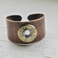 223 Brass Bullet Copper Ring
