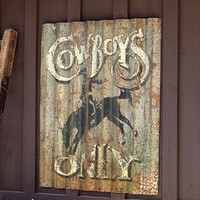 Buckaroo Tin Cowboy Sign - Garden Accents - Outdoor Living - Home & Garden - NapaStyle