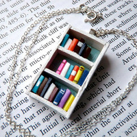 Beach House Bookshelf Necklace by Coryographies (Made to Order)