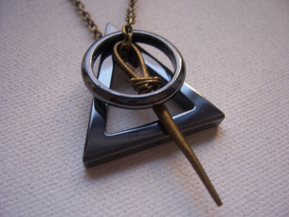 Deathly hallows symbol necklace