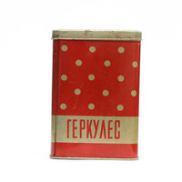 Vintage tin box for food storage by sovietvintage on Etsy