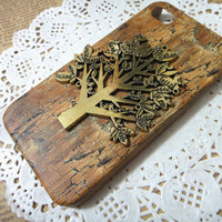 Life TREE wooden pattern iPhone Case fits for iPhone 4 by HaHaCup