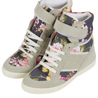 AEROBIC2 Floral Wedge Hi-Tops - Boots  - Shoes