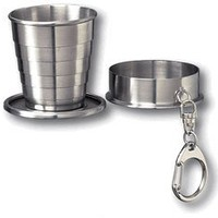 Stainless Steel Telescopic 2oz Shot Cup with Key Chain