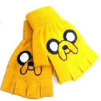 Adventure Time Jake Fingerless Gloves - Orange
