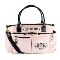 Juicy Couture Diaper Baby Bag Pink New Bib Wipe Box Changing Pad Latest Authentic Brand New with Ta