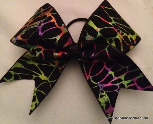 Neon Multi Color Cheer Hair Bow Cheerleading