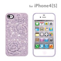 Strapya World : SwitchEasy Avant-garde 3D Case for iPhone 4S/4 (Blossom/Lilac)