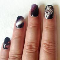 Space is the Place Decal Set for Galaxy Nails
