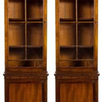 One Kings Lane - Natasha Baradaran - Antique Cabinets, Pair