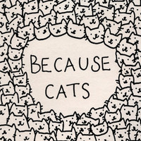 Because cats Art Print by Kitten Rain | Society6