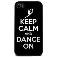 Keep Calm and Dance On - iPhone 4 and 4s Silicone Rubber Cover, Cell Phone Case