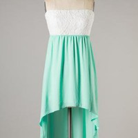 High-low Mint Tea Dress