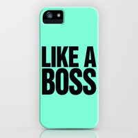 Like a Boss Tiffany Mint iPhone Case by RexLambo | Society6