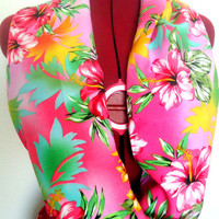 Floral Infinity Scarf, Fashion Pink Scarf
