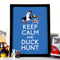 Keep Calm And Duck Hunt, Art Print, 8 x 10 inches