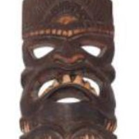 "CARVED TIKI MASK 8"" - LUCKY TIKI MASK"