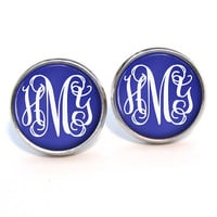 Monogram Stud Earrings (323)