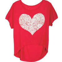 Puff Paint Heart Tee