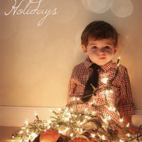 Lil Loves / christmas cards- wrapped in lights