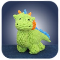 crochet dragon in lime green by HenryStMartin on Etsy