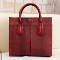 European Fashion Python Skin Pattern Ladies Handbags Red : Wholesaleclothing4u.com