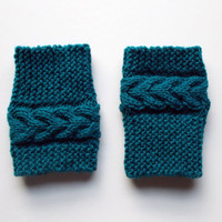 Hand Knitted Madison Cable Boot Cuffs
