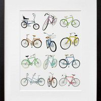 20x200 | 12 Bicycle Drawings, by Christine Berrie