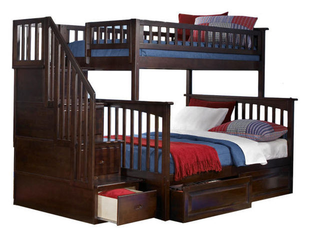 Ogden Twin over Full Stairway Bed