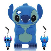 Amazon.com: 3D Blue Stitch & Lilo ipod touch 4 Soft Silicone Case Cover With 3D Stitch Stylus Pen For itouch 4g 4th Generation: Cell Phones & Accessories
