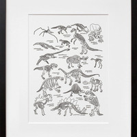 20x200 | Dinosaurs at The American Museum of Natural History, by Jason Polan