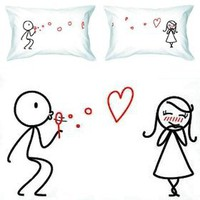 "Amazon.com: BoldLoft ""From My Heart to Yours"" Couple Pillowcases-Romantic Valentine's Day Gifts for Couples, Cute Valentines Gifts for Him or Her, Romantic Anniversary Gifts: Home & Kitchen"