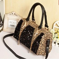 Fashion Leopard Shiny Handbag Shoul.. on Luulla