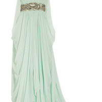 Marchesa|Crystal-embellished silk-chiffon gown|NET-A-PORTER.COM