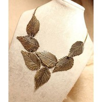 New Punk Runaway Look Leaf Long Necklace - Necklaces - Jewelry Free shipping