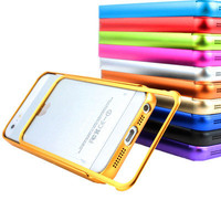 For Apple iPhone 5 Luxury Real Aluminum Metal Bumper Frame Case+Screen Protector
