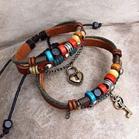 Handmade Couple Leather Bracelets- .. on Luulla