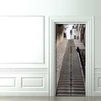 Trompe L&#x27;oeil Doors Montmartre&#x27;s stairs - Koziel by Couture Dco