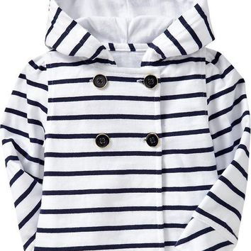 Striped Hooded Jackets for Baby